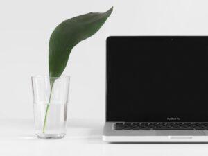 Laptop met nieuwe website